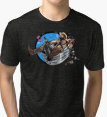 Bullethole Cowboy 2: Saddle Soap Up Tri-blend T-Shirt