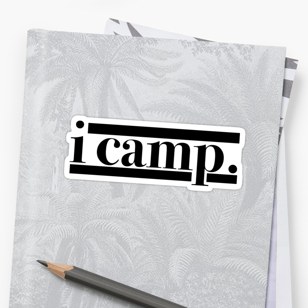 i camp. Sticker Front