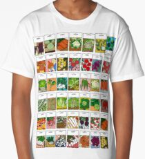 Vegetable seeds pattern Long T-Shirt