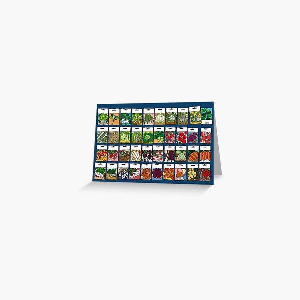 Vegetable seeds pattern Greeting Card