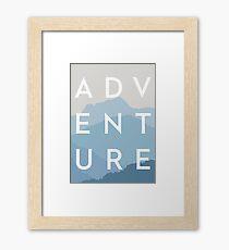 ADVENTURE - Blue Mountain Range Framed Print