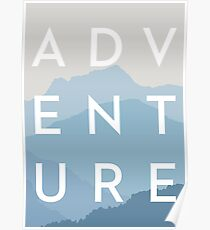 ABENTEUER - Blue Mountain Range Poster