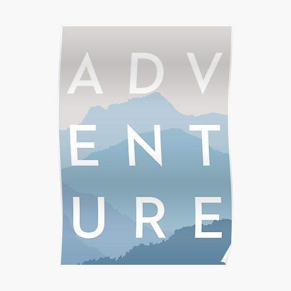 ADVENTURE - Blue Mountain Range Poster