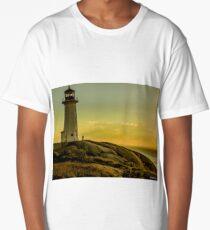 Peggys Cove Lighthouse at Sunset  Long T-Shirt
