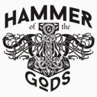 Hammer Of The Gods / Wikinger / Vikings / Schwarz by norwik