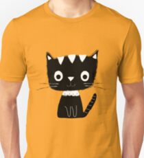 Cute black and white cartoon cat  Unisex T-Shirt