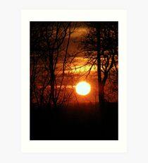 Sunset 2 08-02-08 Art Print