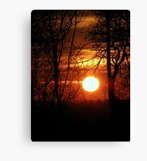Sunset 2 08-02-08 Canvas Print