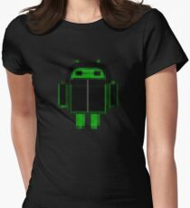 Black hoody droid Women's Fitted T-Shirt