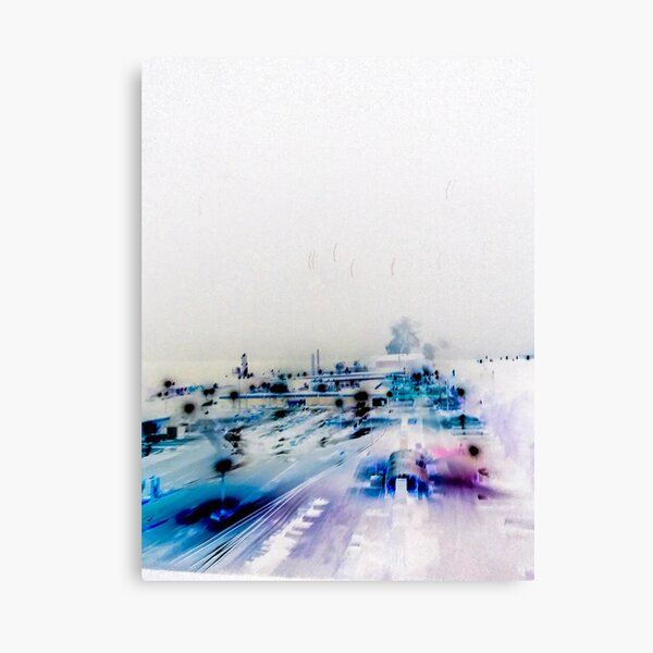 Blue Industry Canvas Print