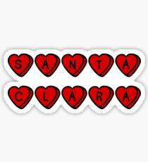 Santa Clara Hearts Sticker