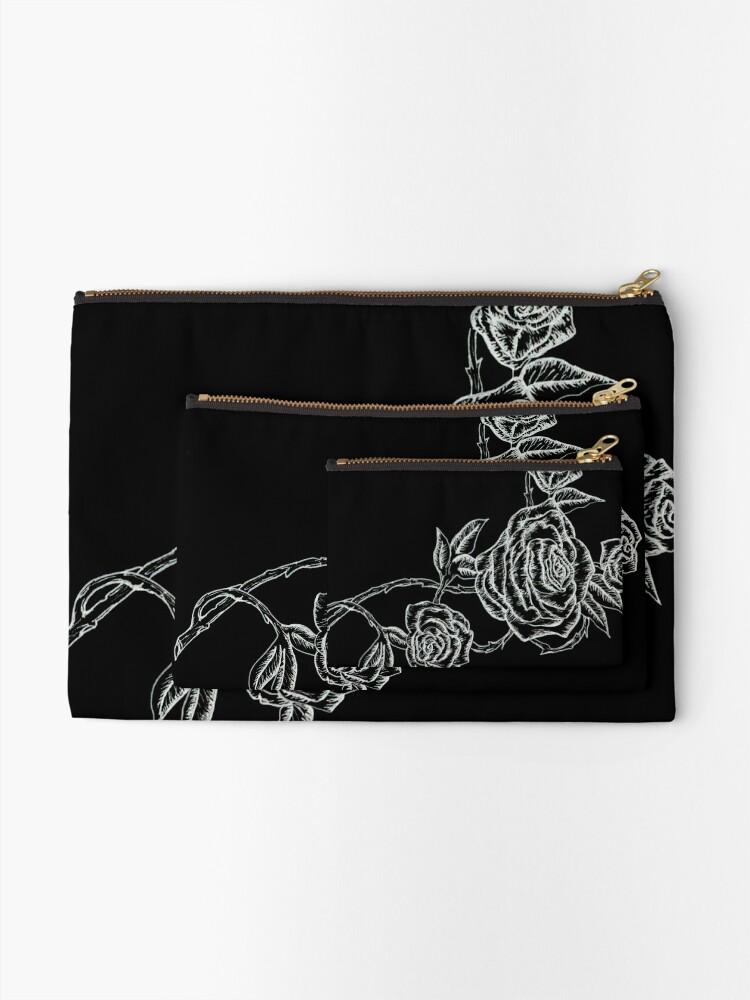 Vista alternativa de Bolsos de mano Inked Roses - Invertido