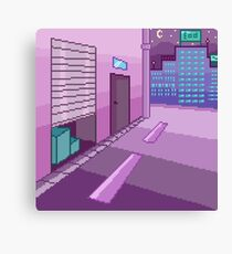 Pixelart - Night in the City Canvas Print