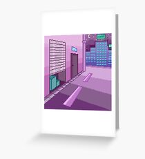 Pixelart - Night in the City Greeting Card