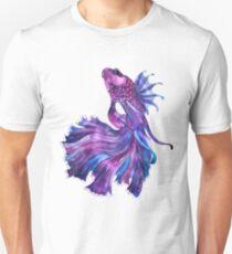 Violet Fight Fish Unisex T-Shirt