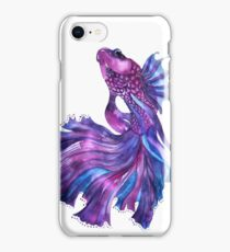 Violet Fight Fish iPhone Case/Skin