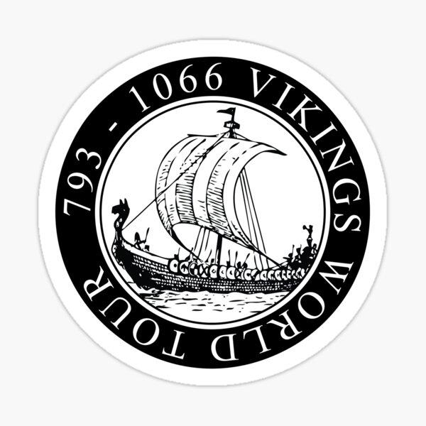 Tour du monde des Vikings / Wikinger / Vikings Sticker
