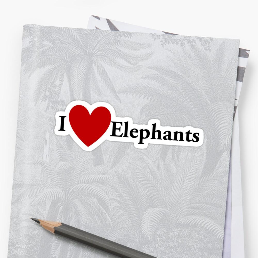 I Heart Elephants by redbubbletom55