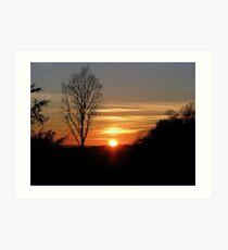 Sunset 3 08-02-08 Art Print