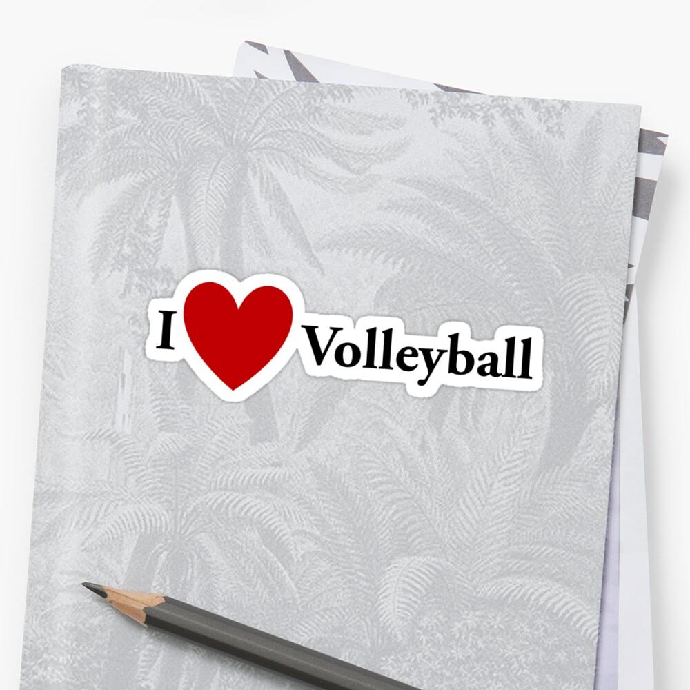I Heart Volleyball by redbubbletom55