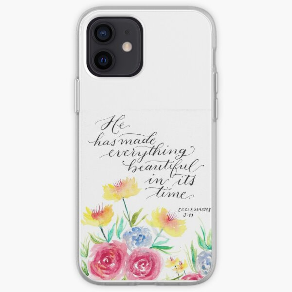 Ecclesiastes 3:11 - Bible Verse Watercolor iPhone Soft Case