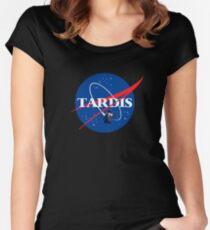 Nasa Tardis Women's Fitted Scoop T-Shirt