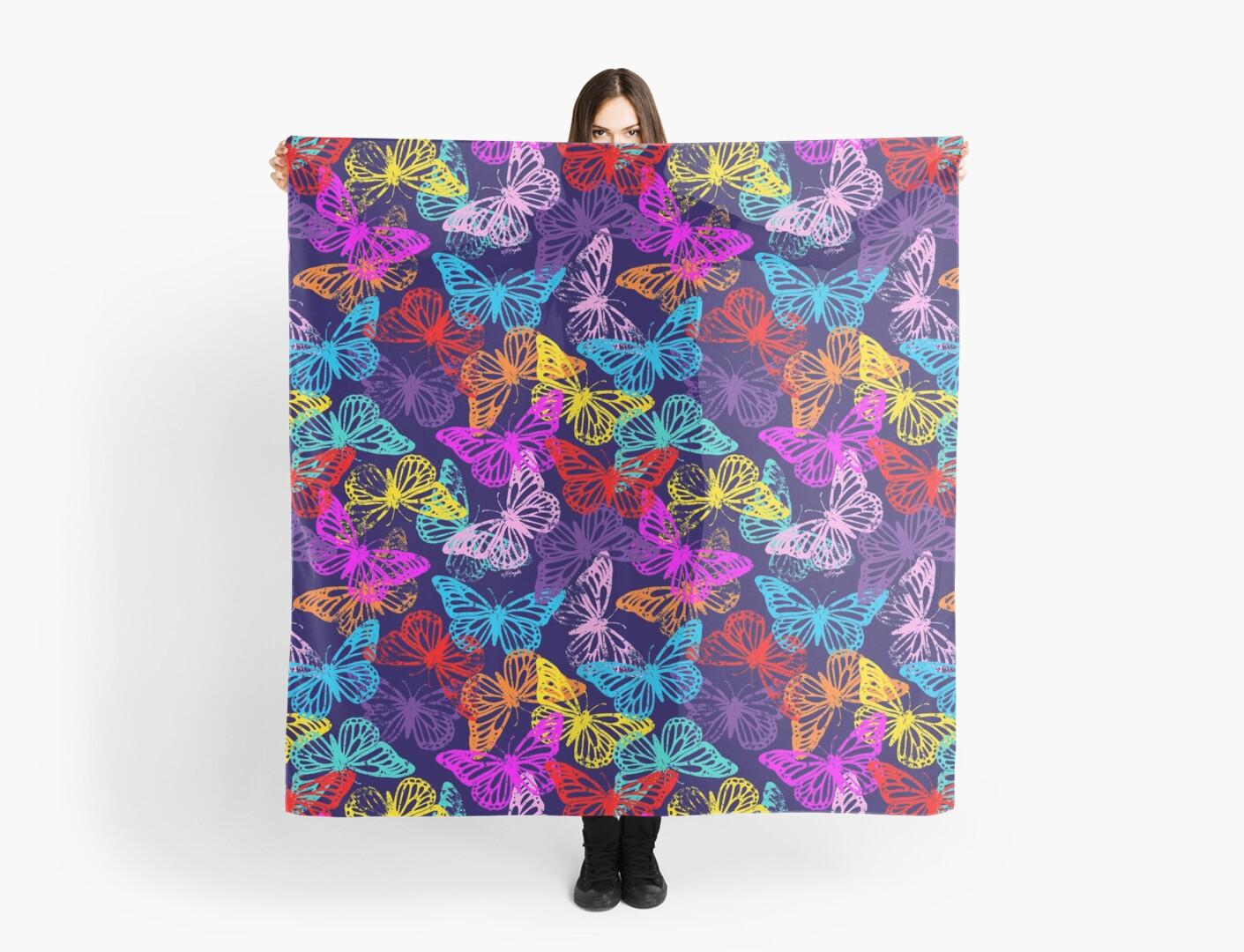 Multicolored Butterflies Pattern by ArtVixen