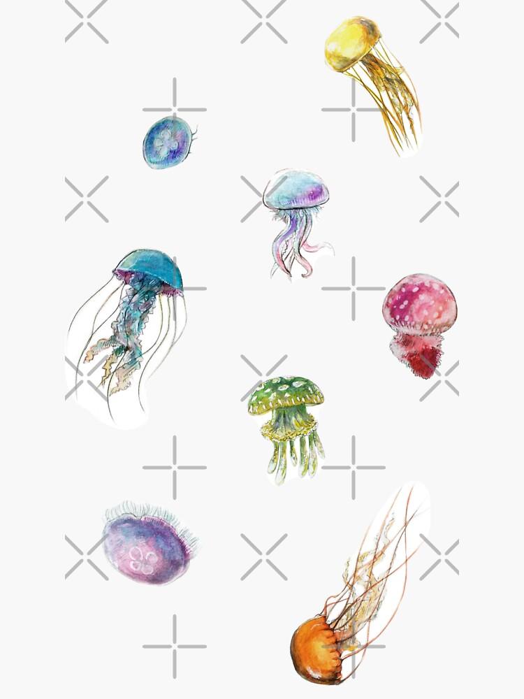 ~ Watercolor Jellyfish ~ by seasofstars