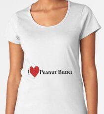 I Heart Peanut Butter Women's Premium T-Shirt