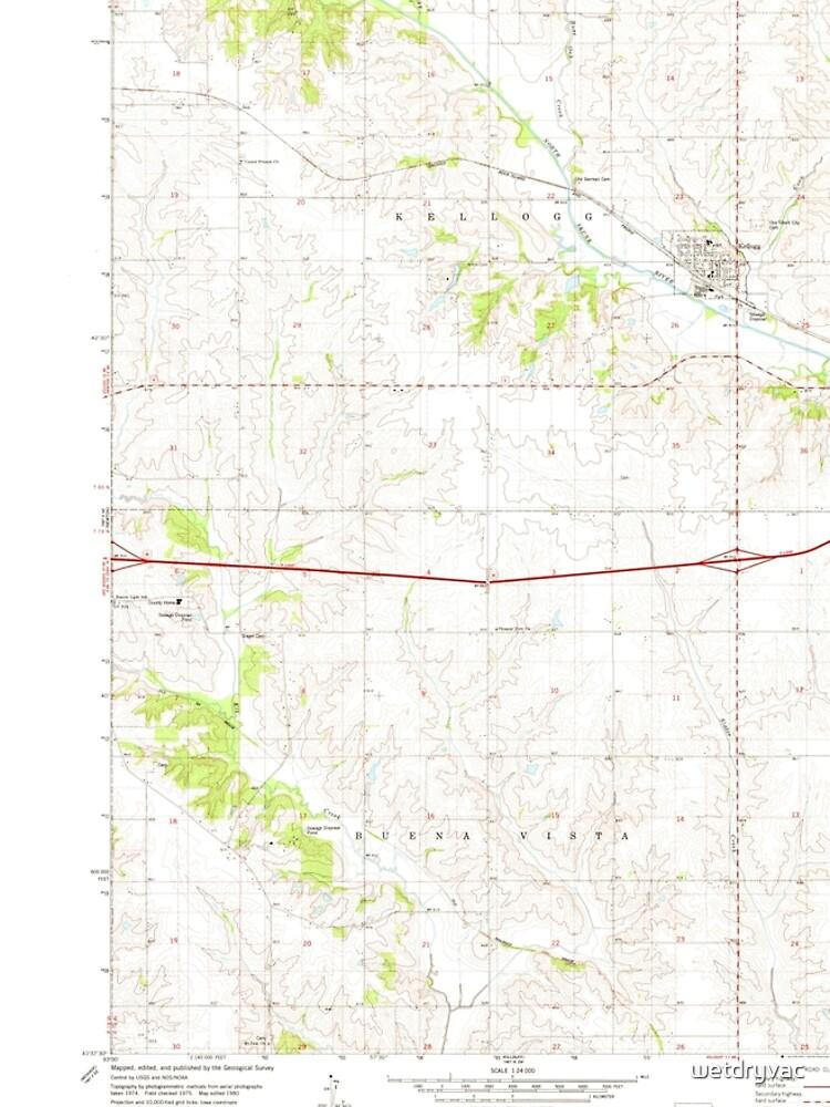 usgs topo maps iowa ia kellogg 174915 1980 24000 wetdryvac  von wetdryvac