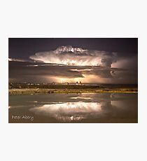 summer storm over newcastle baths Photographic Print