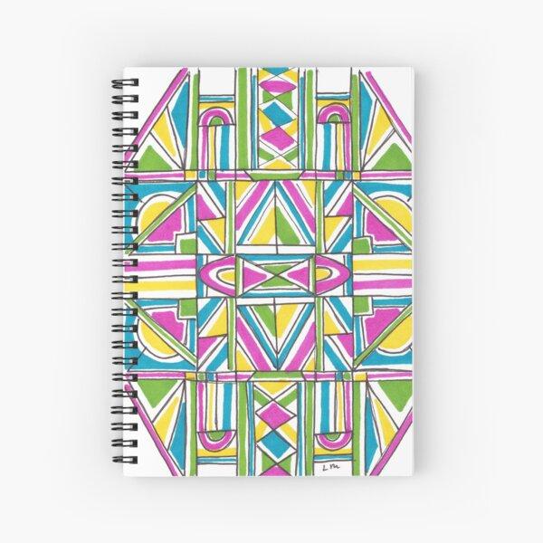 Geometric Pattern Spiral Notebook