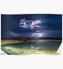 storm over newcastle baths Poster