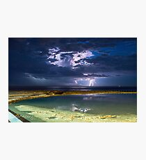 storm over newcastle baths Photographic Print