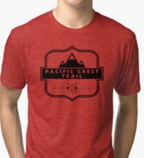 Pacific Crest Trail -  PCT Mountain Hiking Backcountry Camping Tri-blend T-Shirt