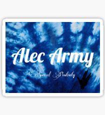 Alec Army Collection : Blue Tie Dye Sticker Sticker