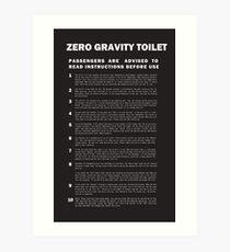 2001 A Space Odyssey Zero Gravity Toilet Instructions Art Print