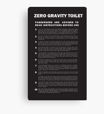 2001 A Space Odyssey Zero Gravity Toilet Instructions Canvas Print