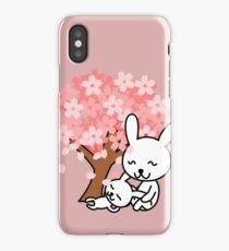 Cute Pink Bunnies iPhone Case/Skin