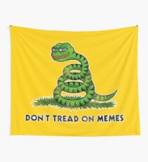 Don't Tread on Memes -Smug Pepe- Wall Tapestry