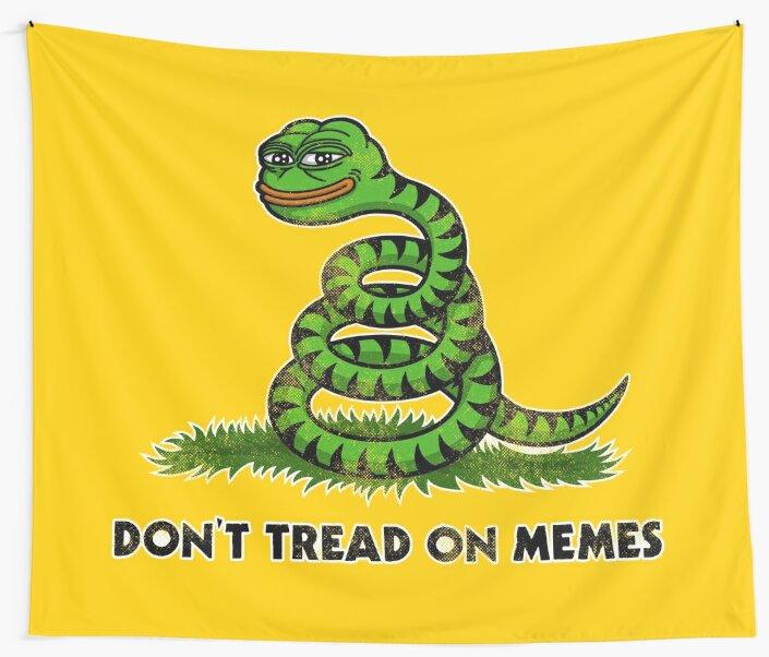 Don't Tread on Memes -Smug Pepe- by HellFrog