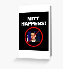 Mitt Happens Greeting Card