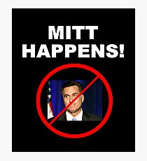 Mitt Happens Photographic Print