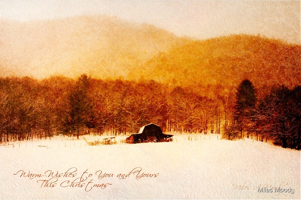 Country Snows Greeting Card by Miles Moody