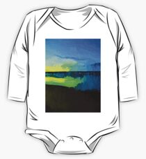 Yellow and Green Sun on the Blue Sea One Piece - Long Sleeve