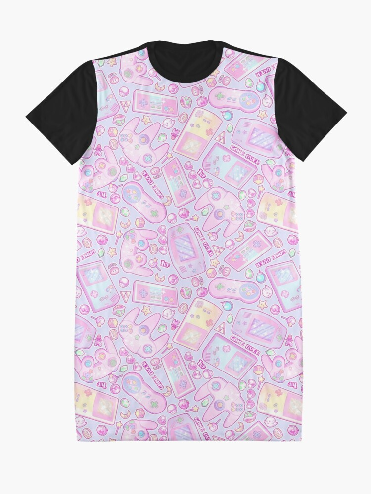 Alternate view of Power Up! Graphic T-Shirt Dress