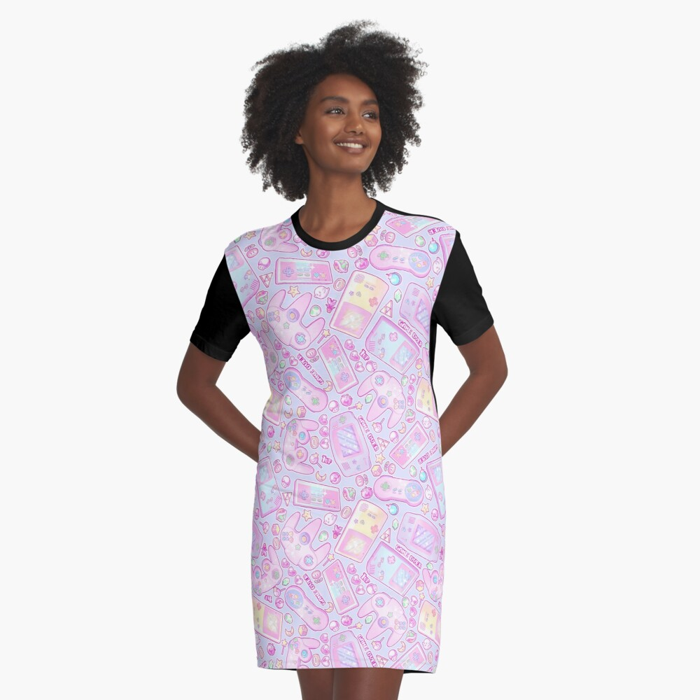 Power Up! Graphic T-Shirt Dress