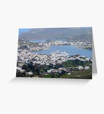 Isle of Patmos Greeting Card