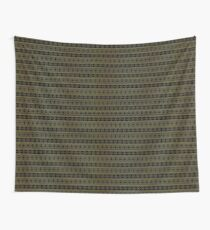 Small Black and Gold Royal Aztec Tribal Pattern Wall Tapestry