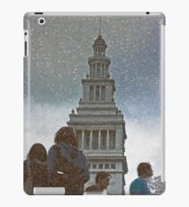 San Francisco Ferry Building Reflection in a Puddle iPad Case/Skin